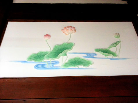 漆喰のレリーフ