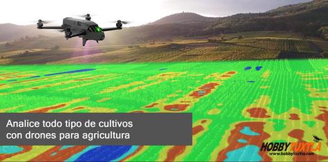 Los drones Parrot Bluegrass Fields le ayudan a analizar todo tipo de cultivos en la agricultura de precisión