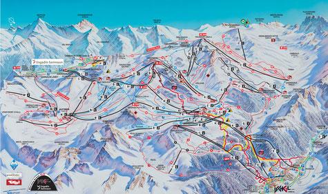 Winterurlaub, Skiferien in der Silvretta Arena Samnaun/Ischgl