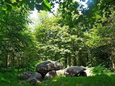 La pierre courcoulée à Landéan©crtb-Donatienne Guilaudeau