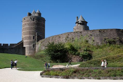La basse cour du château de Fougères