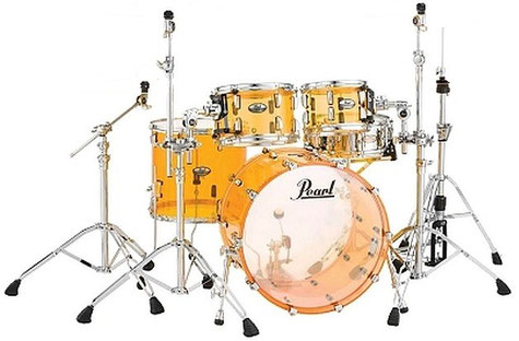 "Crystal Beat Series - Tangerine Glass - Acrylic shell - inkl. hardware pack 930er series - 22"" / 10"" / 12"" / 16"" - ohne snare"
