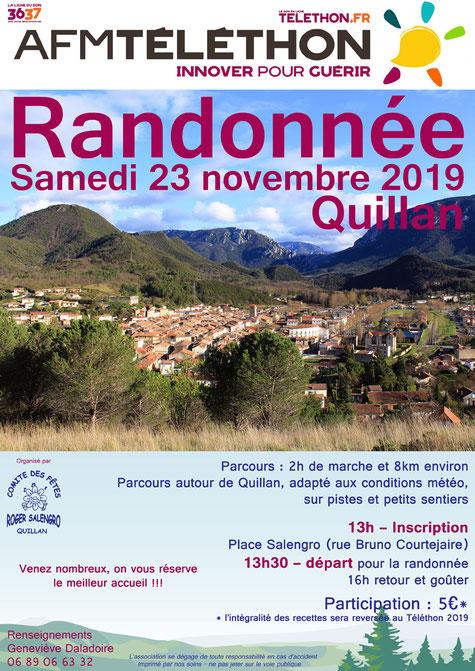 Rando Téléthon - Quillan