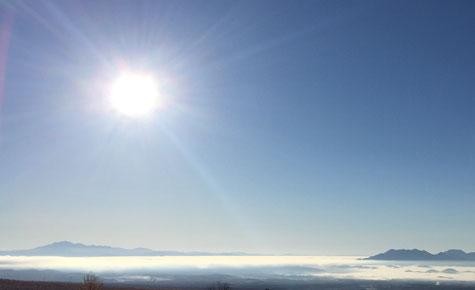 11月5日AM7:45 ペンション村の最も高いところにある入口付近から眺めた雲海