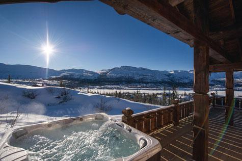 CalderaSpas bain à remous en hiver