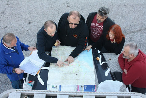 Routenplanung vor Ort