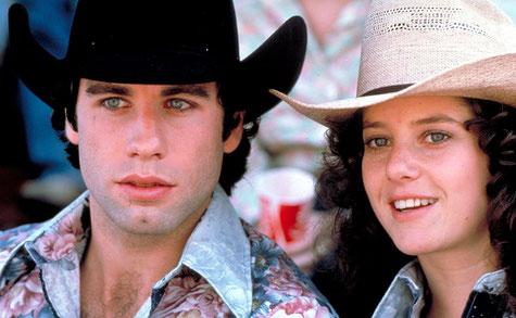 John Travolta y Debra Winger en Cowboys