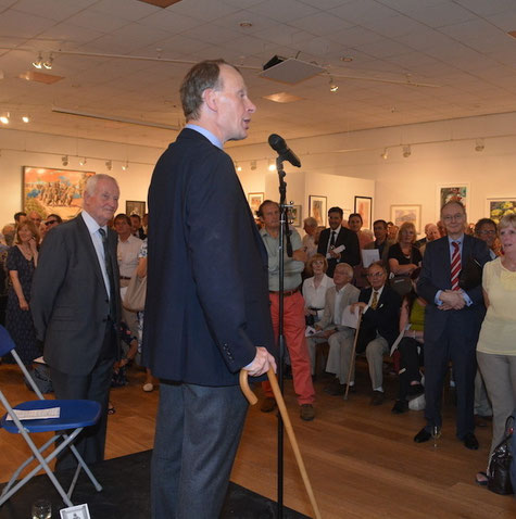 Andrew Marr opening the exhibition