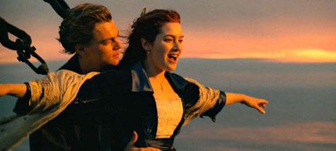 """Les beaux baisers de films romantiques : """"Titanic""""."""