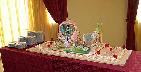 Torta con decorazione in zucchero