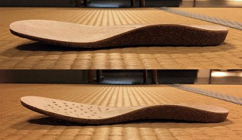 靴の木型が違うとアーチサポートはこんなにも違う