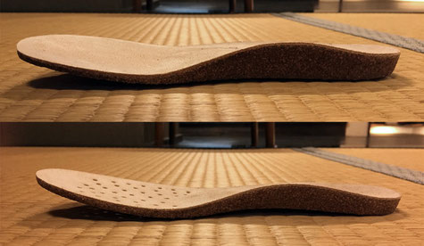 同じメーカーでも靴によって厚みの違うインソールが使い分けられています