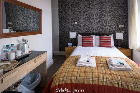 England, Blackpool, Hotel, Unterkunft, Windsor Park Hotel, Zimmer, Bett