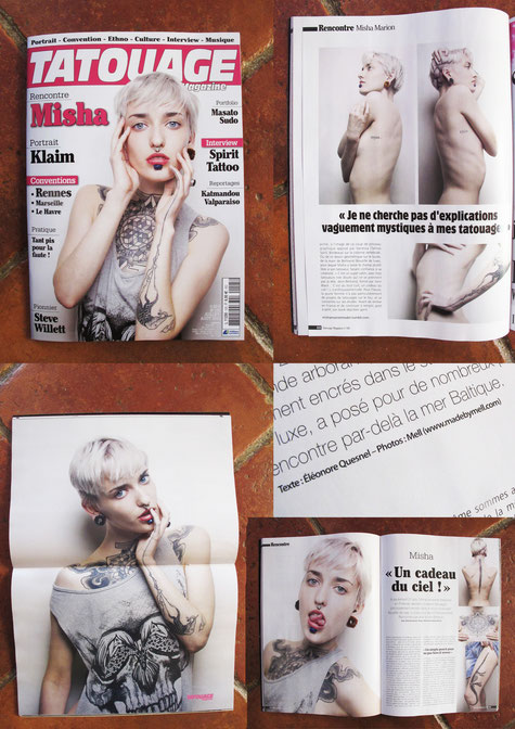 Parution dans tatouage magazine juillet/aout 2015