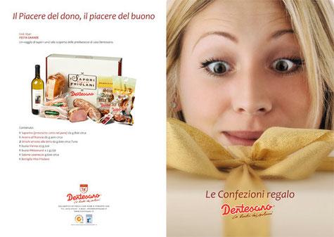 Salumificio Dentesano - foto impaginazione e stampa pieghevole