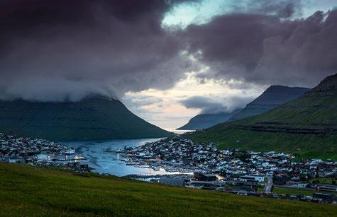 Färöer Inseln, Fotoreise Färöer, Klaksvik am Abend
