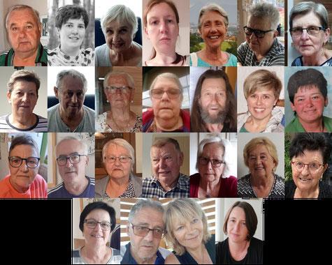 Ehrenamtliche Mitarbeiterinnen und Mitarbeiter aus der Gemeinde Piringsdorf