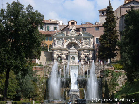 Die Kulturreise 2020 geht nach Italien in die Region Latium, in der auch die Hauptstadt Rom liegt. Auf dem Foto die Villa d'Este in Tivoli mit ihrer großartigen Gartenanlage.