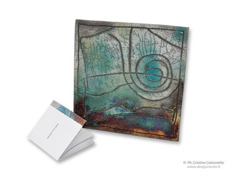 Formella ceramica raku - Premio Hemingway _ Lignano