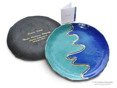 Piatto ceramica Premio Hemingway Lignano