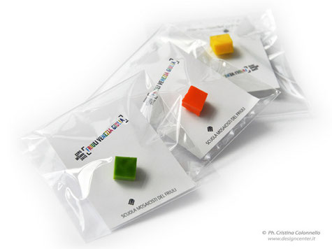 Expo 2015 - Gadget - Spilletta MosaicFantasy in sacchettino trasp e biglietto personalizzato FVG Expo 2015