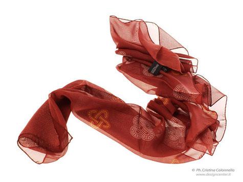 Sciarpa in seta georgette personalizzata . Regione FVG