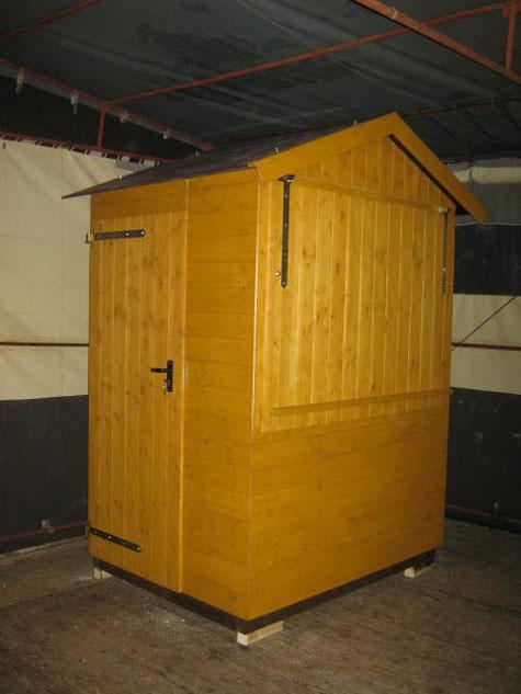 Kassenhaus aus Holz, zu mieten oder kaufen.