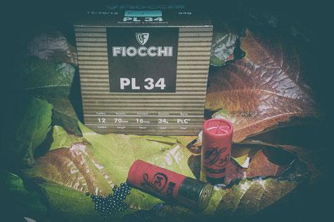 Schrotmunition für die Jagd von Fiocchi PL34