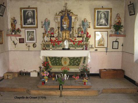 L'intérieur de la Chapelle (privée)  ouverte aux visiteurs dans la journée