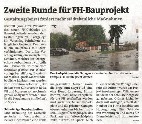 Bezirksrundschau Steyr, Steyr-Land, 11. /12. Juni 2015