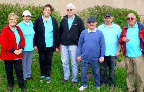 Boule-Ligateam 2014 v.l. Luzie, Hannelore, Margot, Walter, Klaus, Helmut, Wilhelm. Es fehlt: Karola