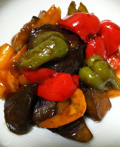 夏野菜の甘酢炒め(健康レシピ)