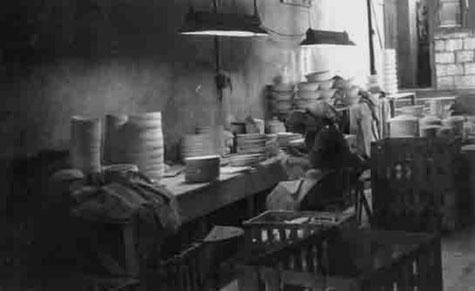 Ancienne photo de l'atelier de contrôle