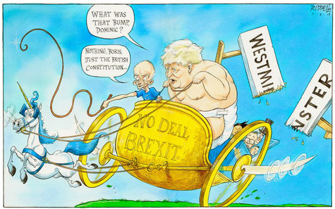 """""""No-deal Brexit and Constitutional Crisis"""", by Chris Riddle, August 10, 2019"""