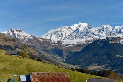 Chalet avec vue sur le Mont-Blanc