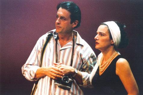 A la imatge, l'actor Ramón Madaula i Marta Calvó.