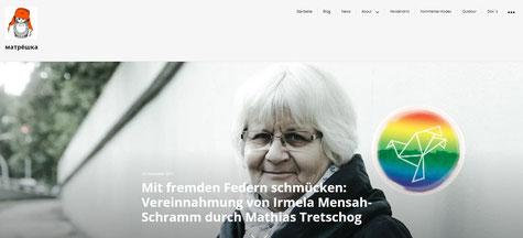"""Matrochka-Blog """"Miese Strategie eines geltungsbedürftigen Mannes, der «kleine Omi´s als Endverbraucher» betrachtet ..."""""""