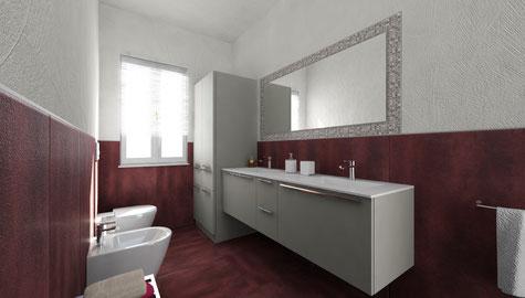 Ambiente bagno - Rendering di progettazione fotografica