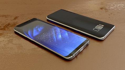 Das Galaxy S8 - Jetzt ist der Rand oben und unten noch schmäler.