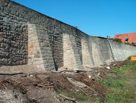 Stadtmauer nach der Sanierung  2003-2006