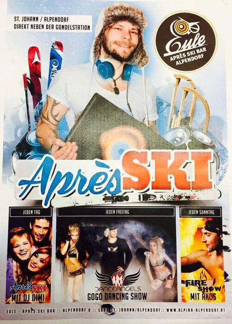 Haus DJ in der Apres Ski Hütte Eule Alpina Sporthotel in St Johann Pongau Alpendorf Österreich