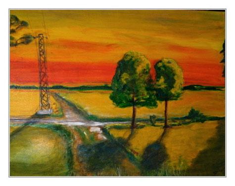 Die Wege kreuzen sich, Acryl, 60x80 cm