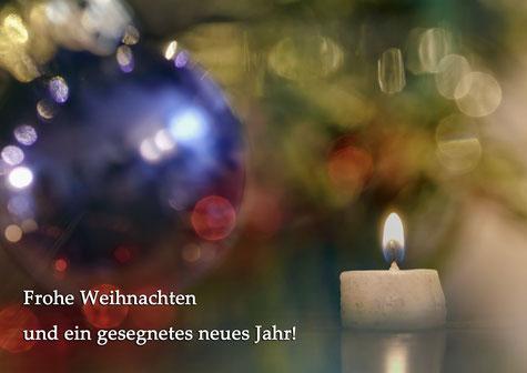 Kugel, baum  licht, kerze gesegnete Weihnachten