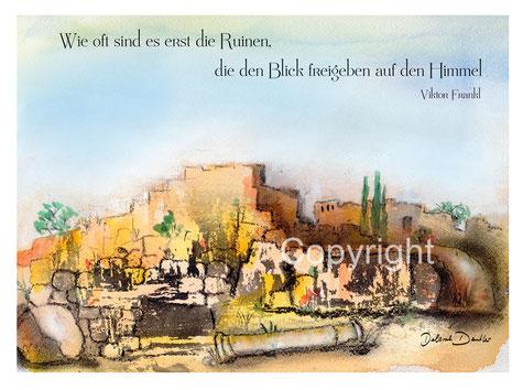 Ruinen, Blick auf den Himmel Viktor Frankl