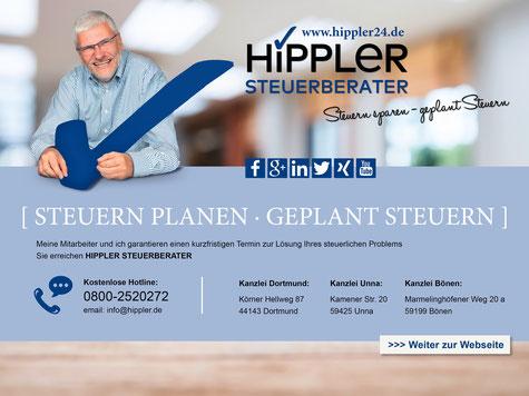 Hippler Steuerberater Dortmund Gründer Steuerberatung Bönen Steuerberatungskanzlei Unna Existenzgründung Hamm NRW