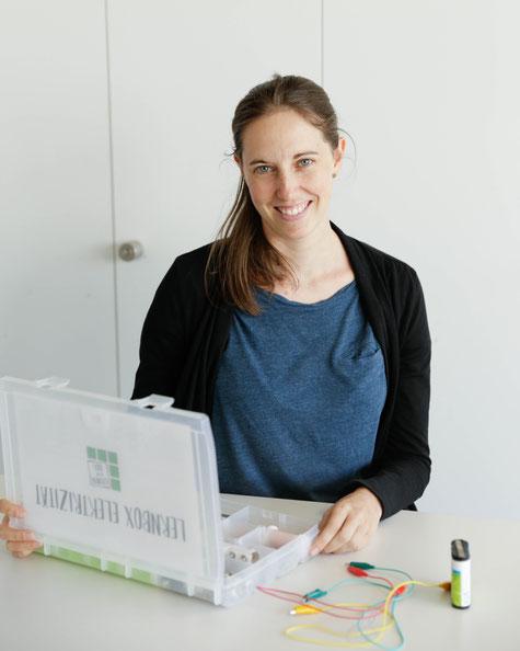 Melanie von Lernen in der Box