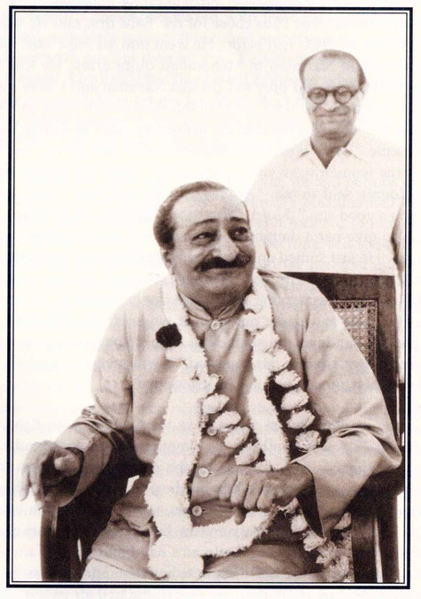 "Meher Baba and Nariman - photo courtesy of Arnavaz's book ""Gift of God"""