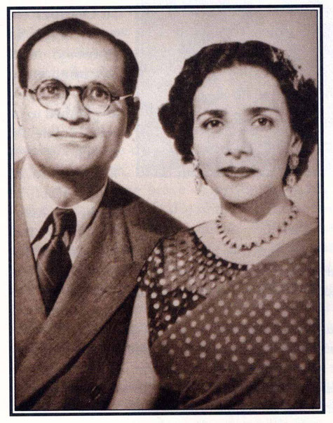 "Nariman & Arnavaz in Paris - photo courtesy of Arnavaz's book ""Gift of God"""
