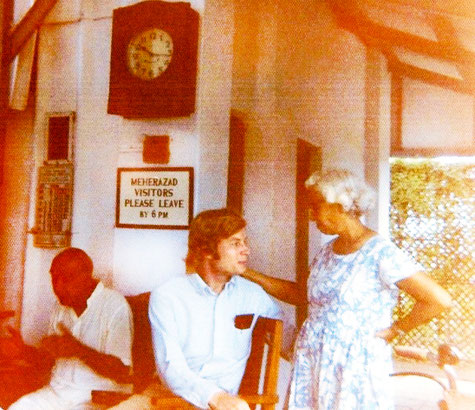 July 1975  : Charles with Dr. Goher & Pendu Irani at Meherzad. Photo taken by Ken Neunzig.