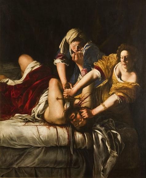 """Artemisia Gentileschi, """"Giuditta che decapita Oloferne"""" (1620)"""